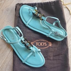 TOD'S Blue Strappy Sandal